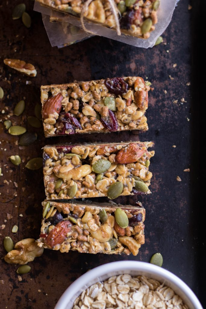 Trail mix energy bars recipe