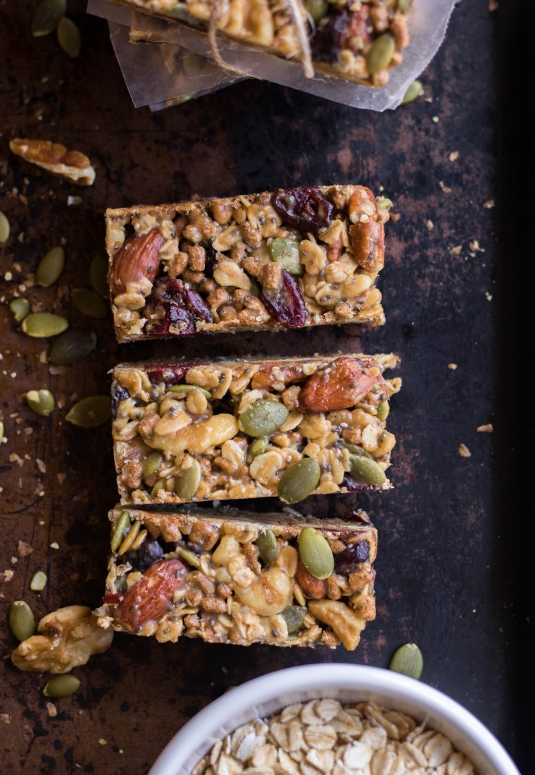 The easiest Trail Mix Energy Bars Recipe