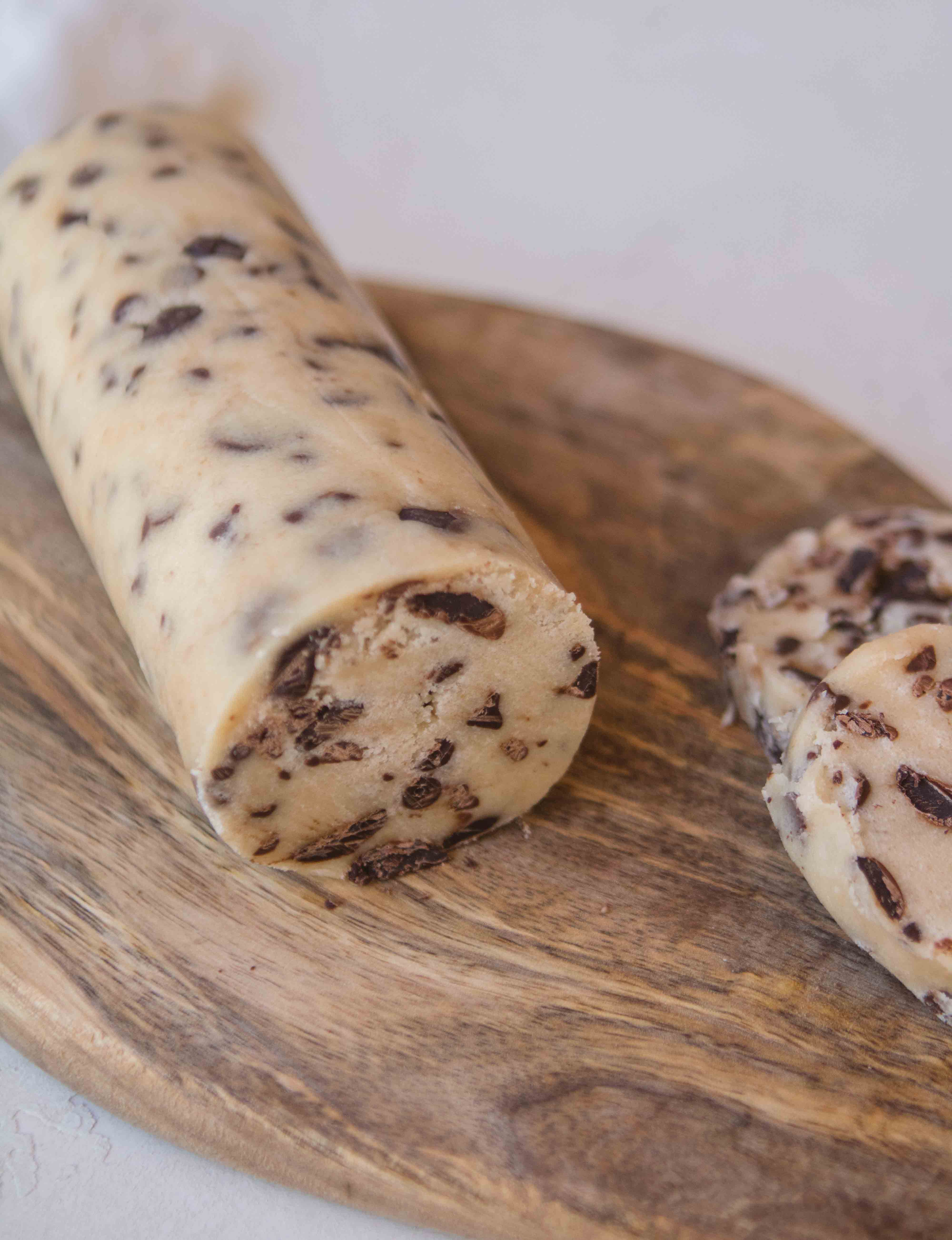 Cookie dough logs with no brown sugar
