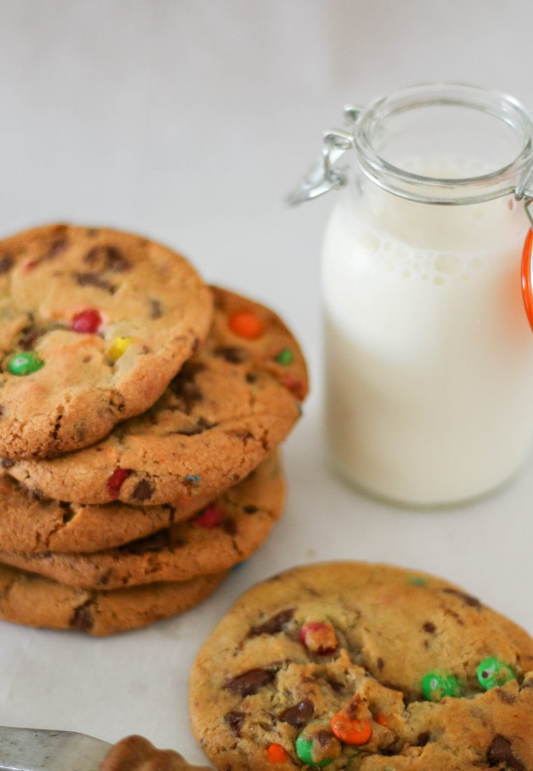 M&M's chocolate chip cookies without brown sugar