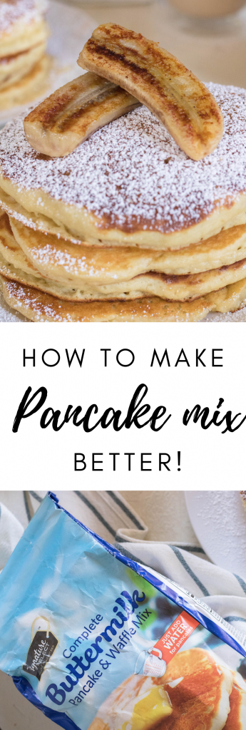 How to make boxed pancake better for pinterest