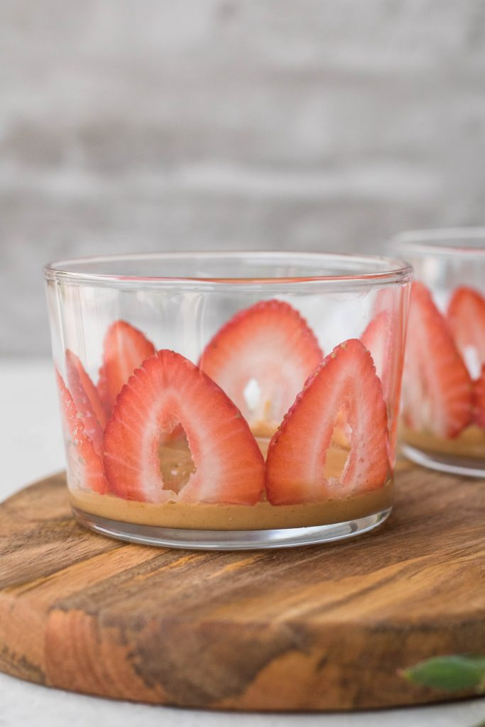 Strawberry peanut butter chia seed pudding