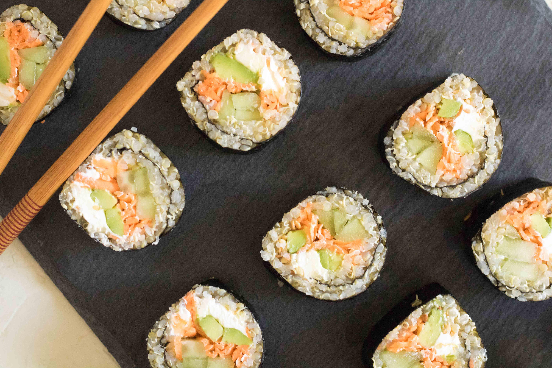 veg sushi rolls
