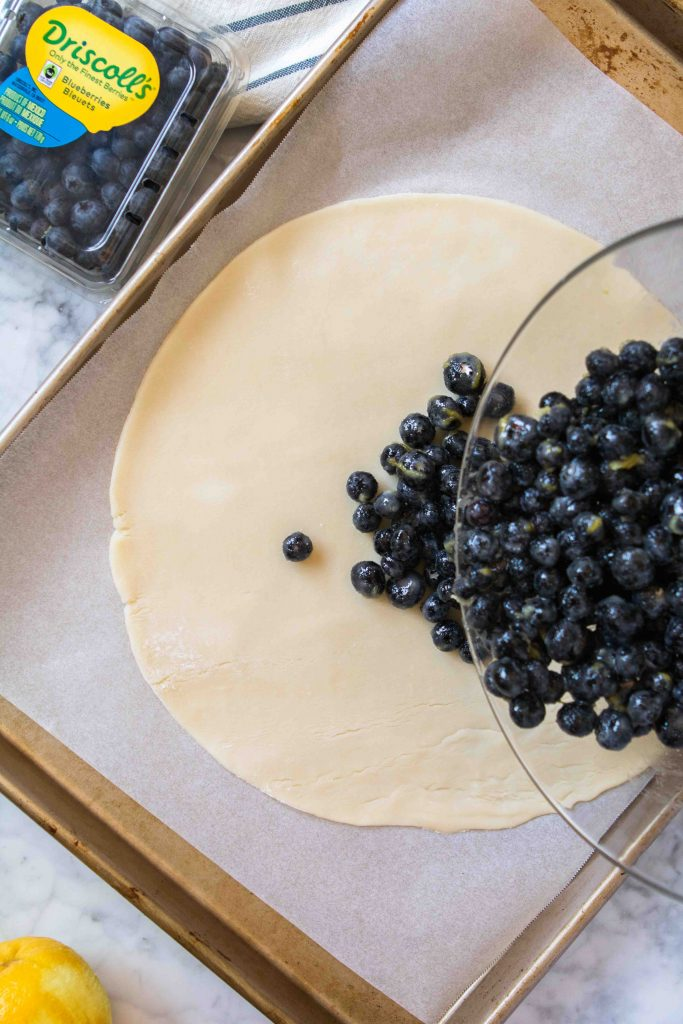 Blueberry lemon galette