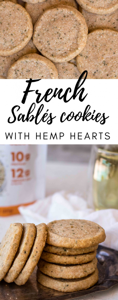 Whole Wheat Sablés Cookies with hemp hearts