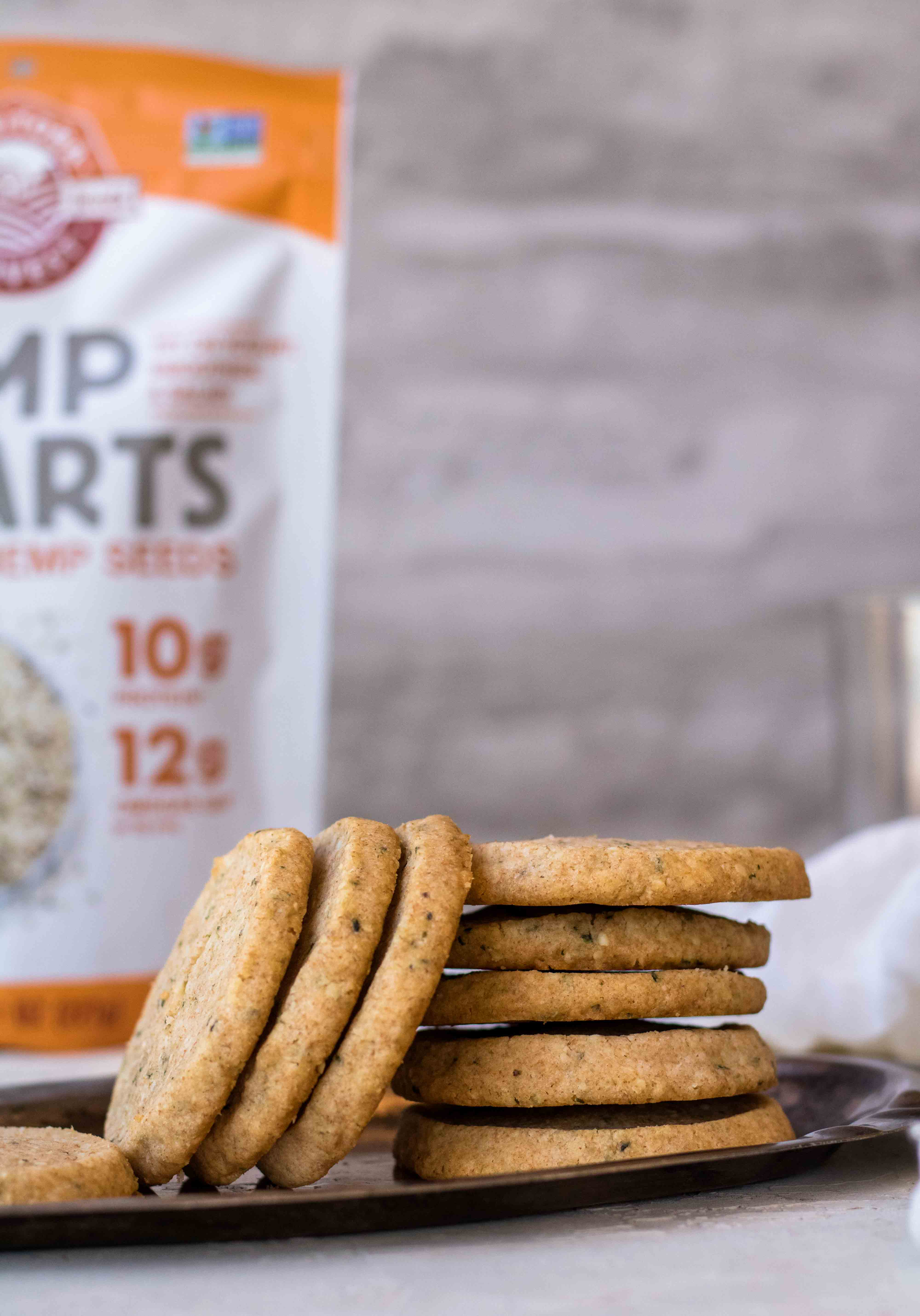 Whole Wheat Sablés With Hemp Seeds