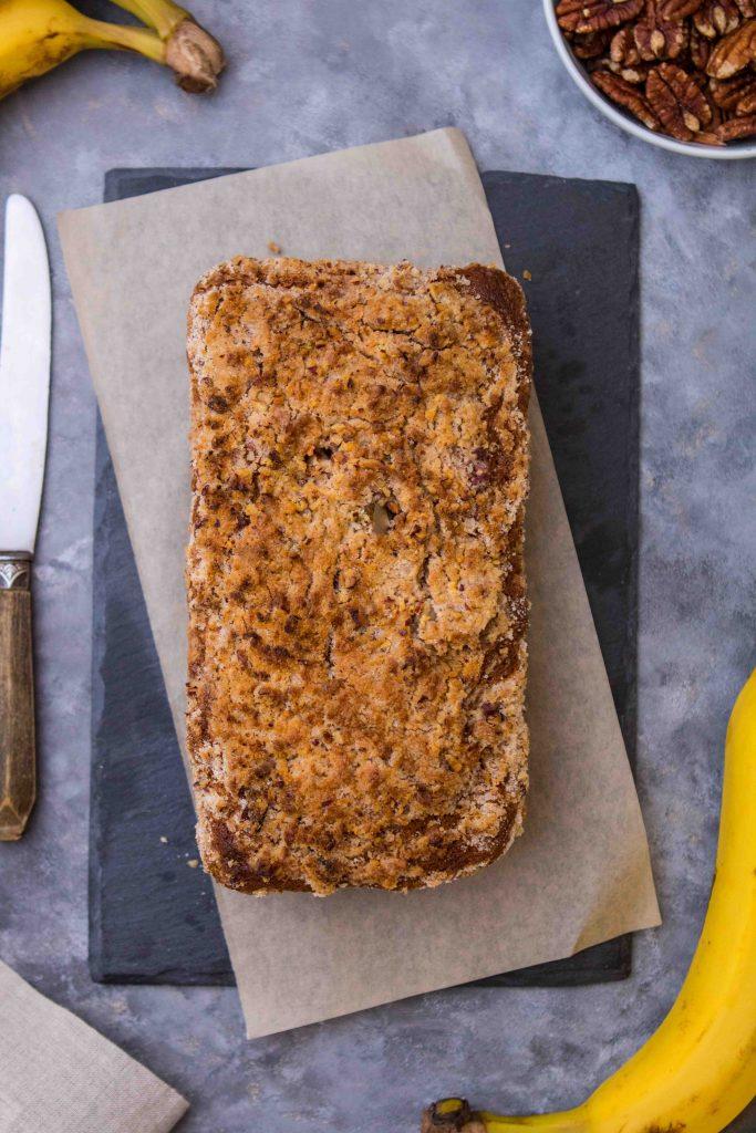 streusel pecan topped sweet bread