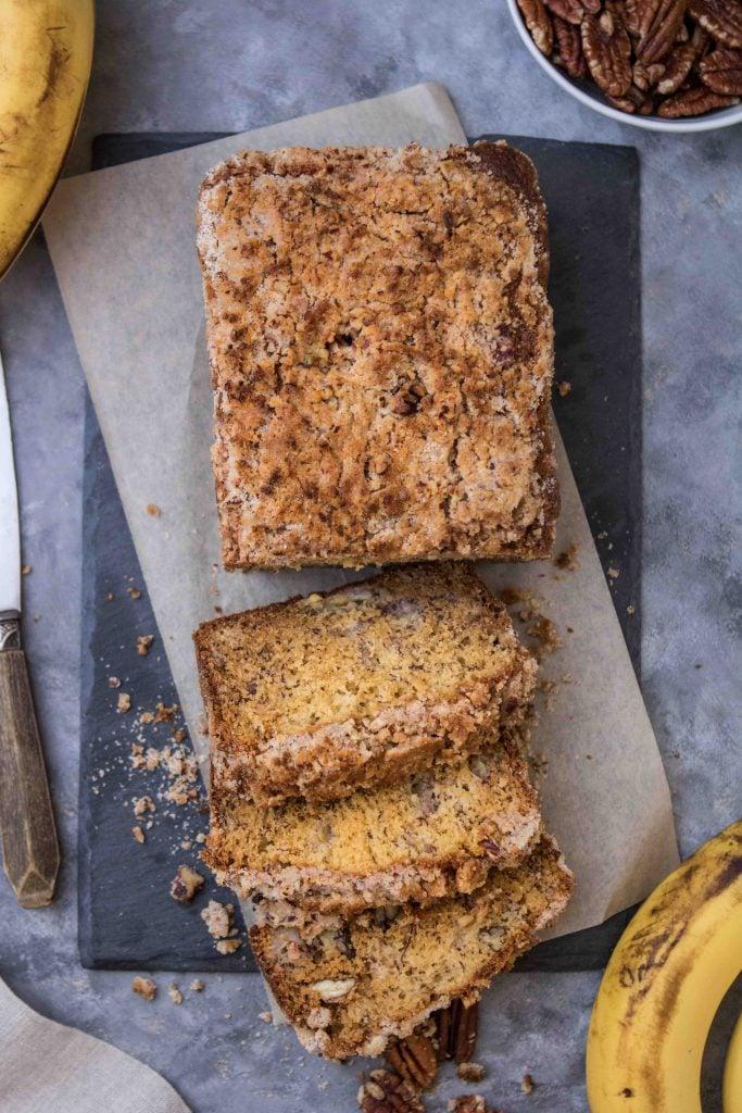 banana bread photography