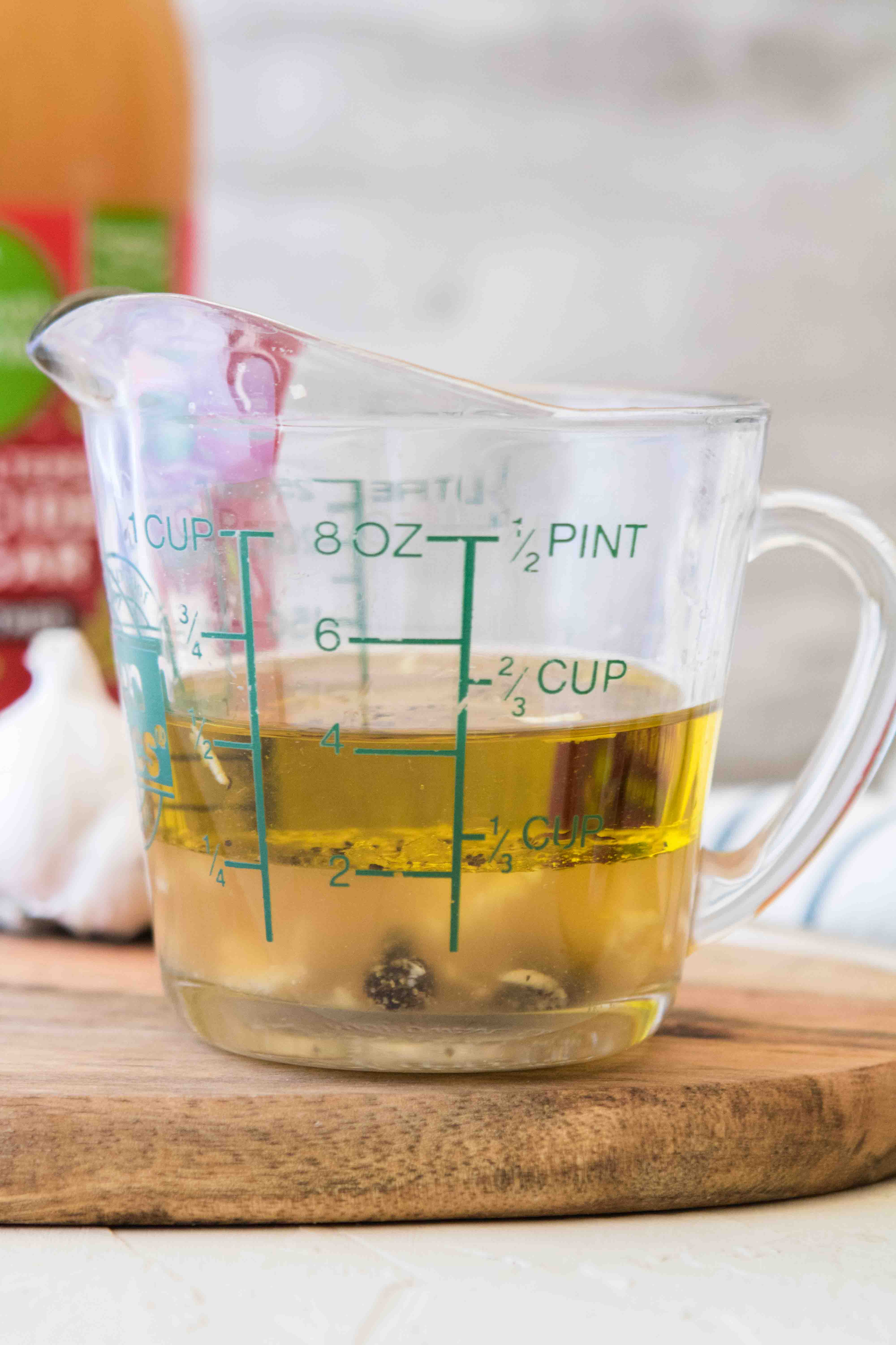 Homemade ACV salad dressing from scratch