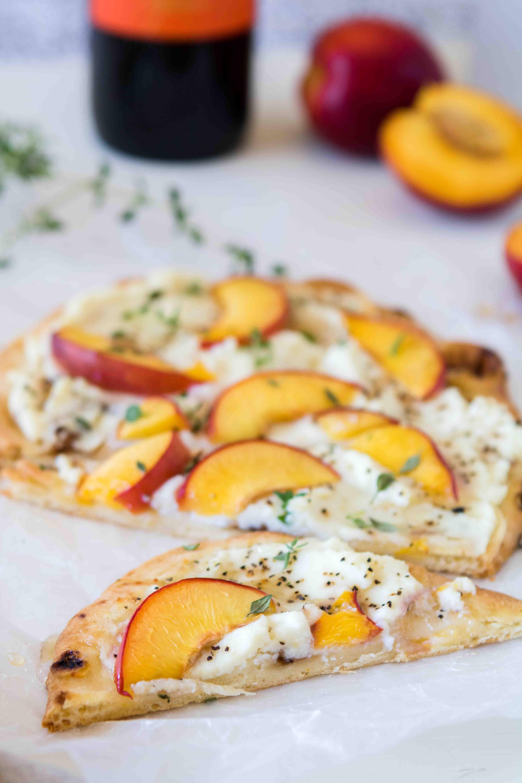 5-ingredient nectarine flat bread appetizer