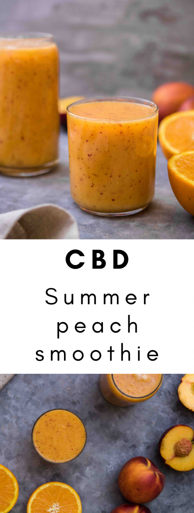 CBD peach summer smoothie recipe