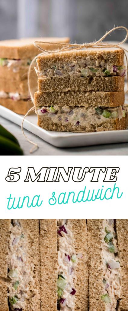 5 minute tuna sandwich recipe