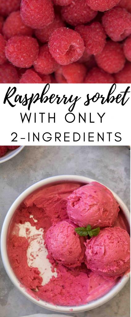 Easy raspberry sorbet recipe