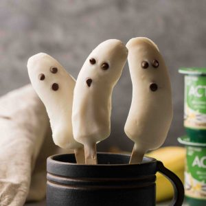 Boonanas - A Frozen Banana Ghost Halloween treat