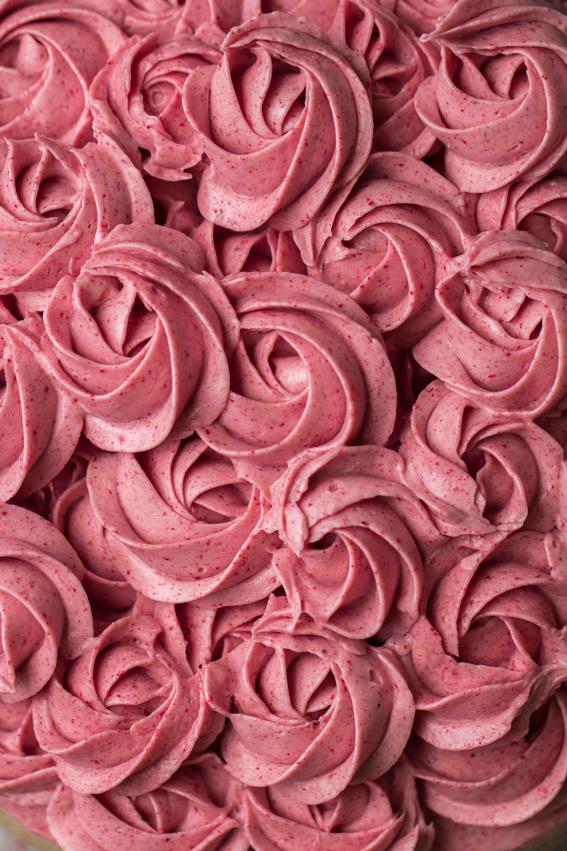Delicious pink raspberry cake