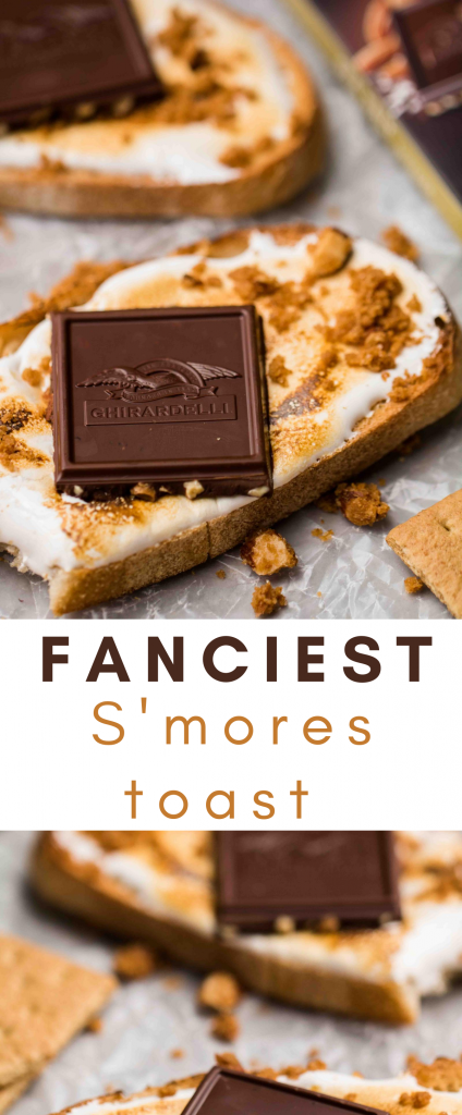 Fancy easy s'mores toast recipe