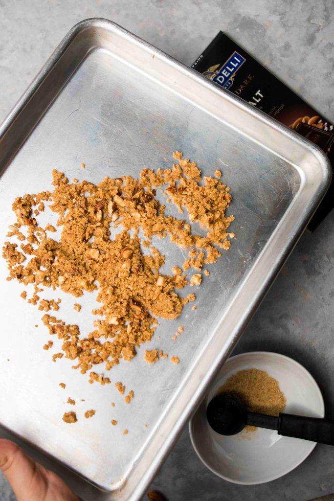 Graham cracker streusel recipe for s'mores toast recipe