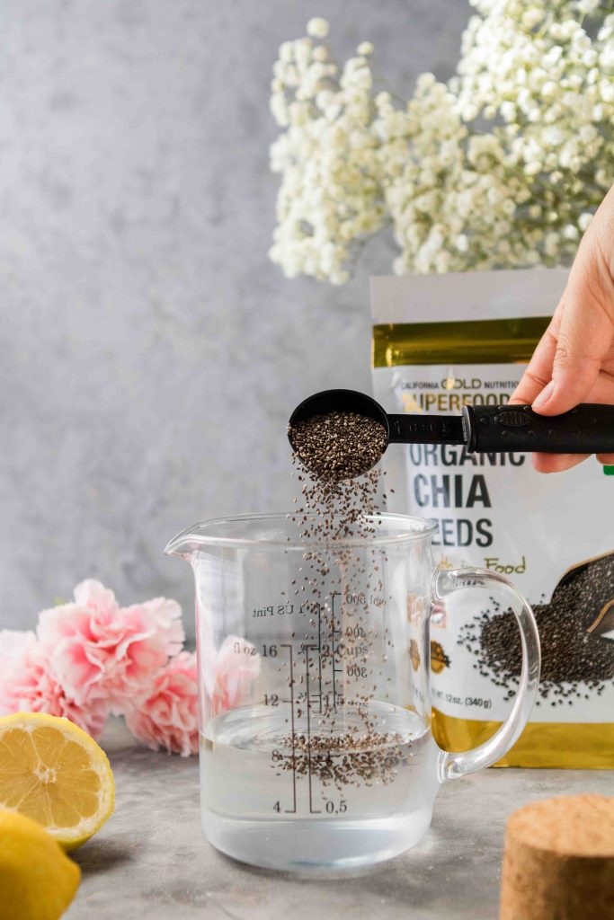 Soak the chia seeds in water