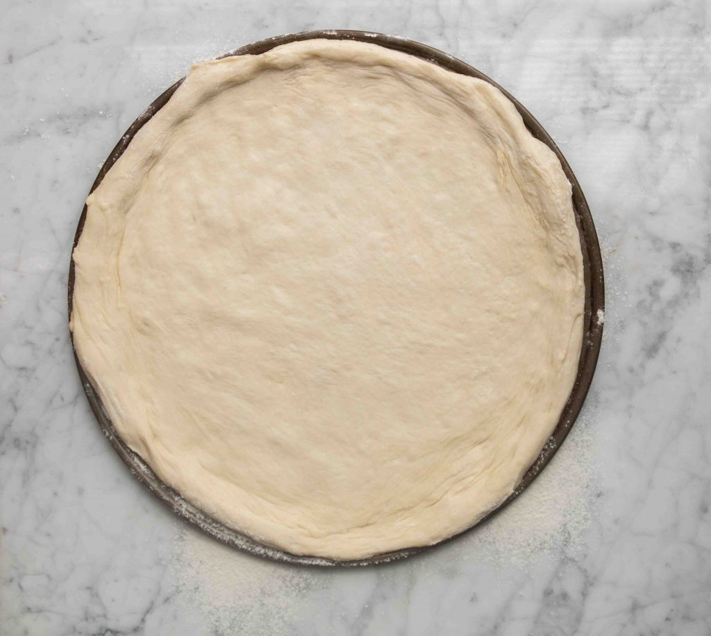step by step to make pizza dough for two