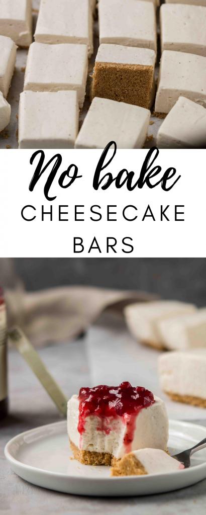 how to make no bake cheesecake bars