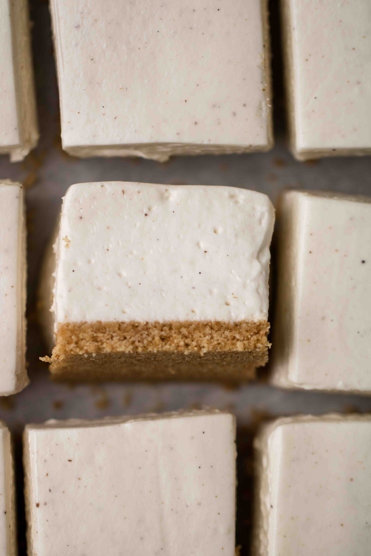 Vanilla bean no bake cheesecake bars