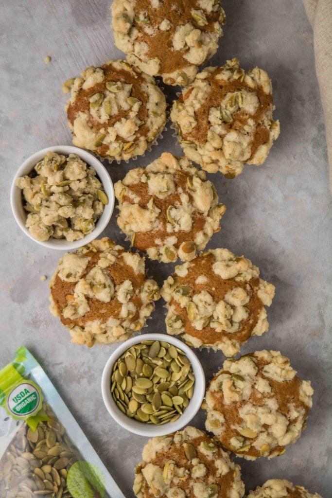 food to live pumpkin muffins with pumpkin streusel