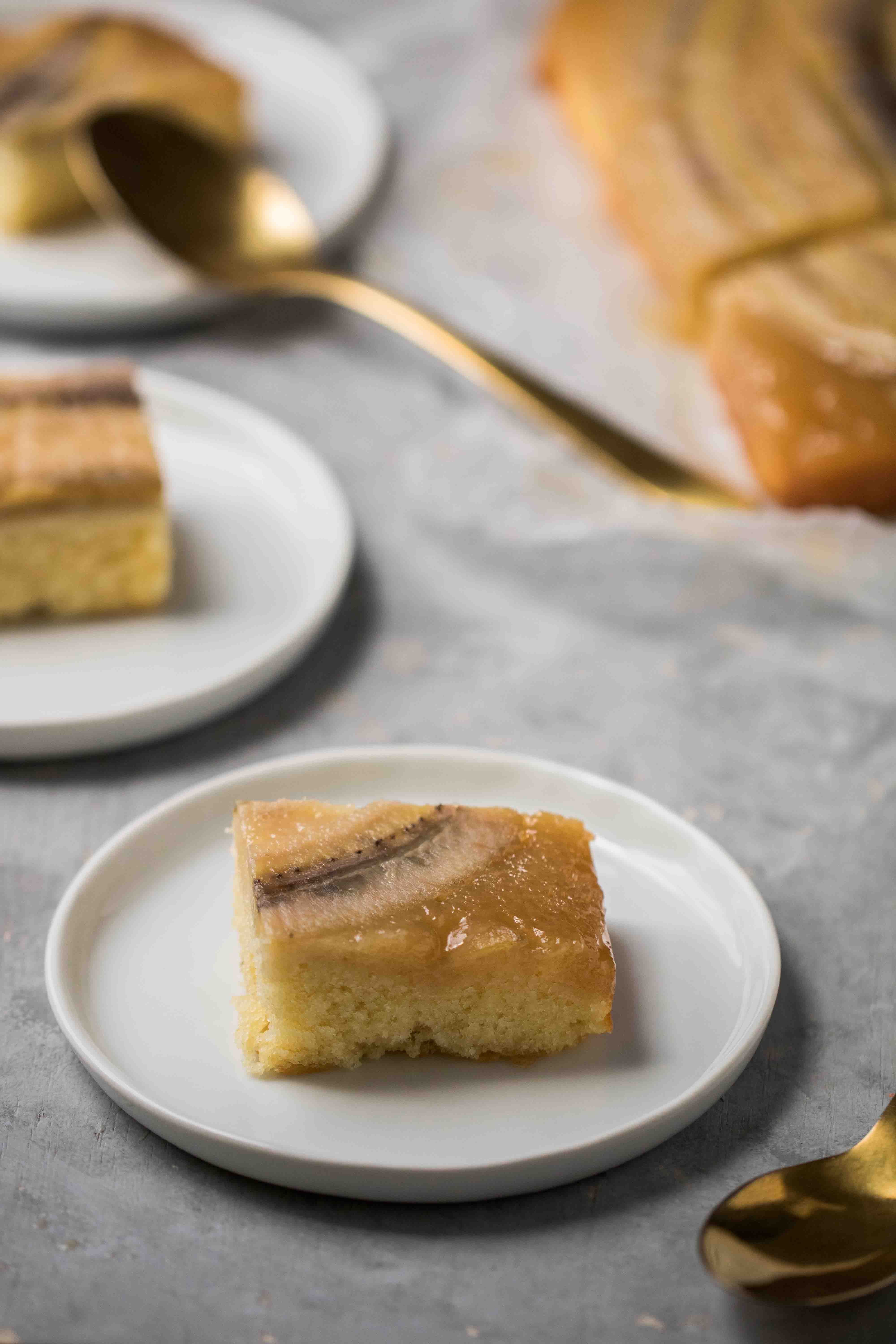 The most buttery upside down banana cake