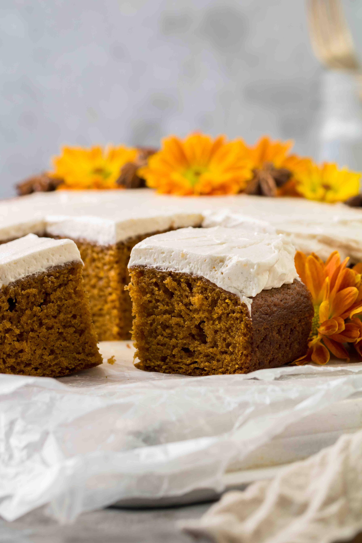 The easiest pumpkin sheet cake