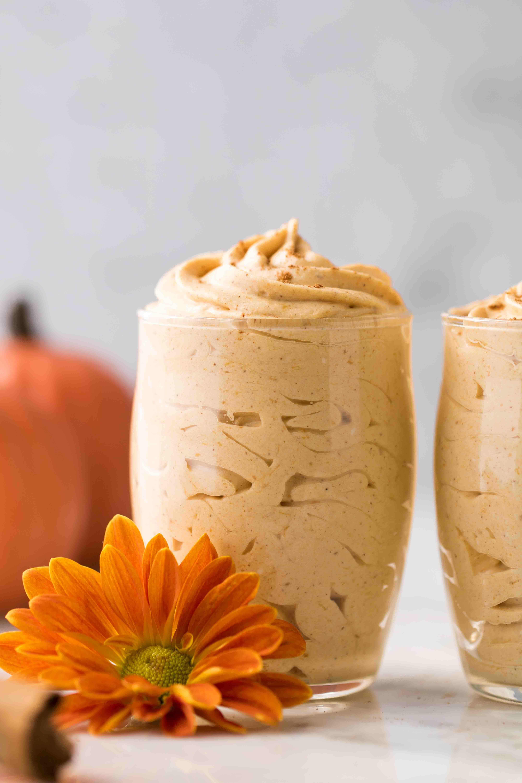 Creamy low carb pumpkin mousse