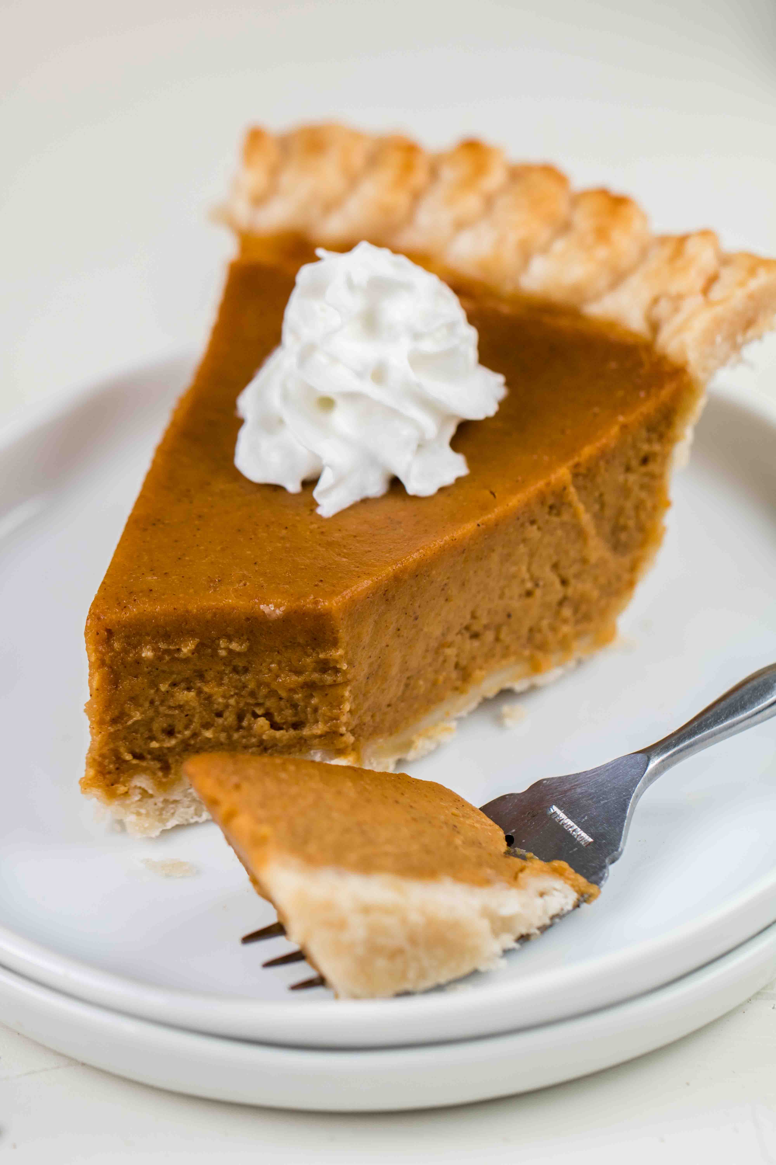 pumpkin pie with custard texture
