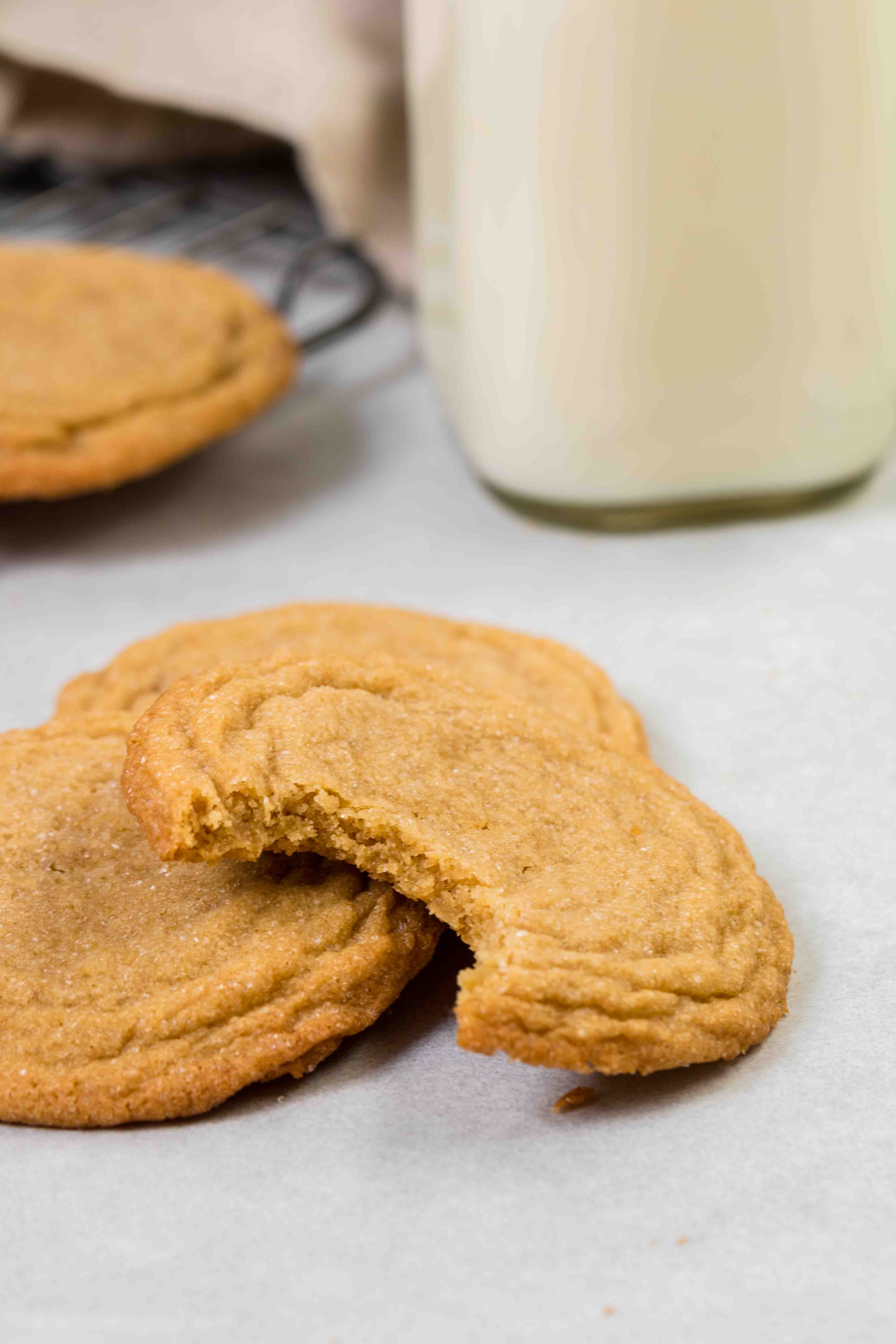 Easy and chewy brown sugar cookies with a bite