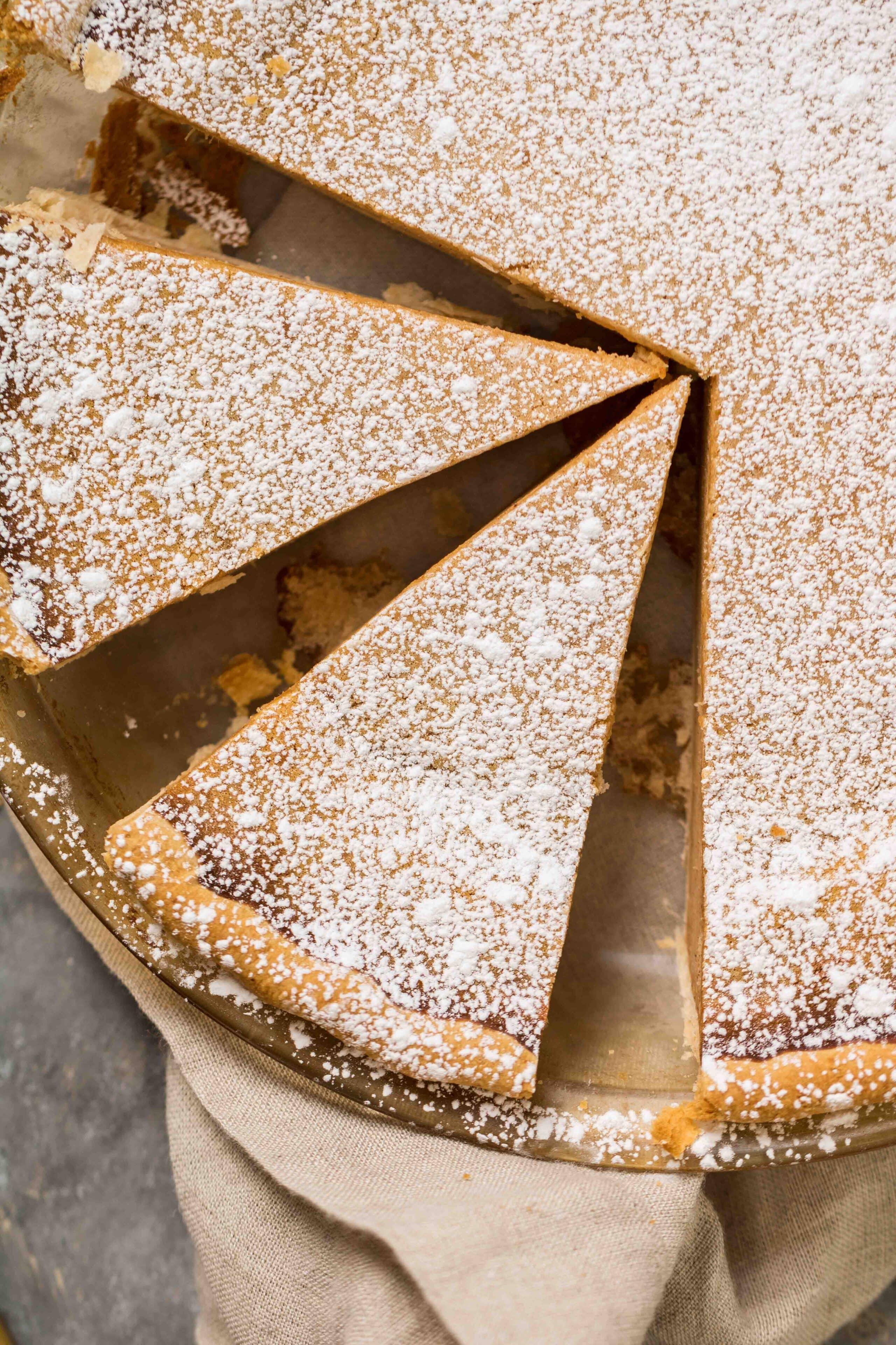 Yam pie slices