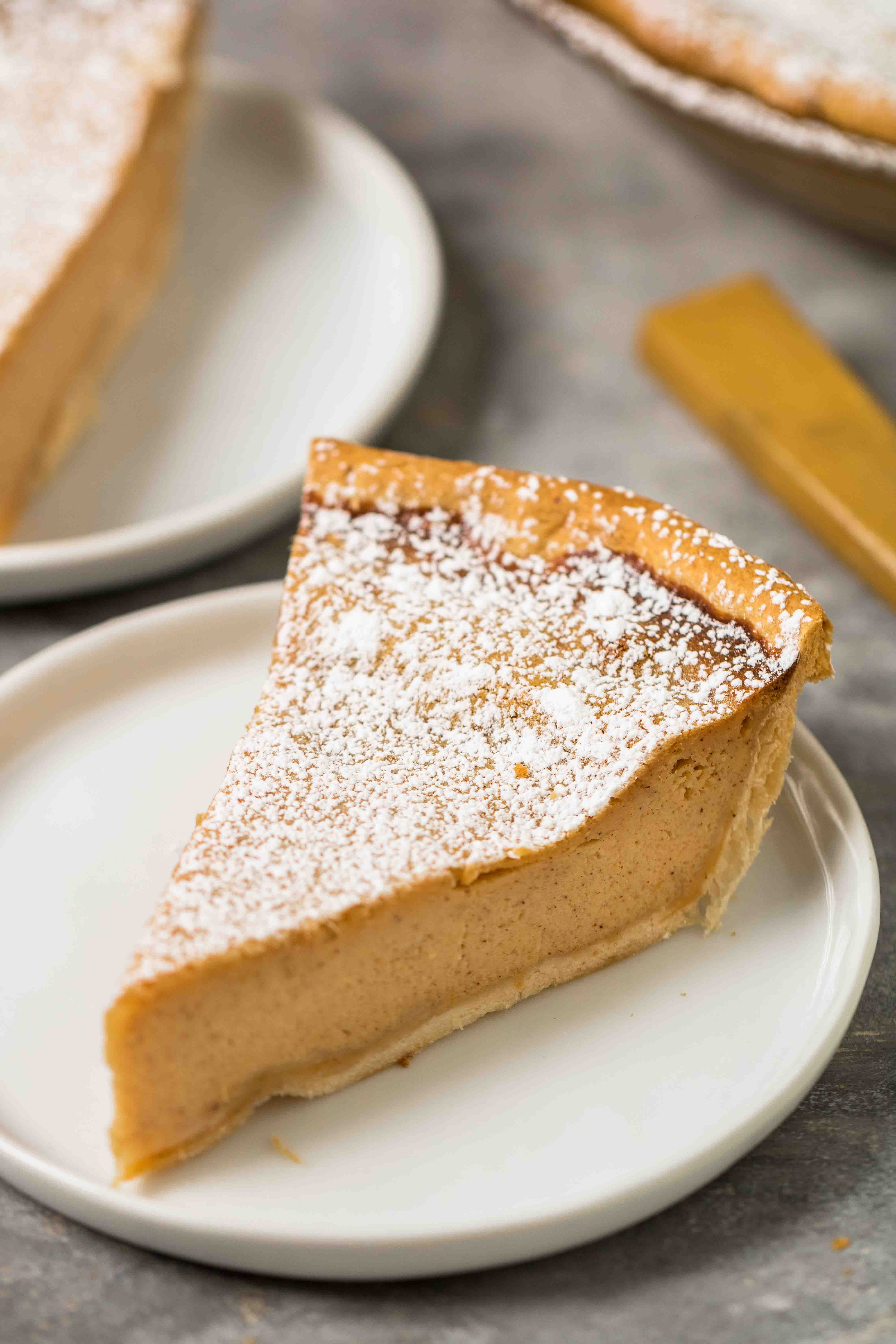 Slice of sweet potato pie for thanksgiving