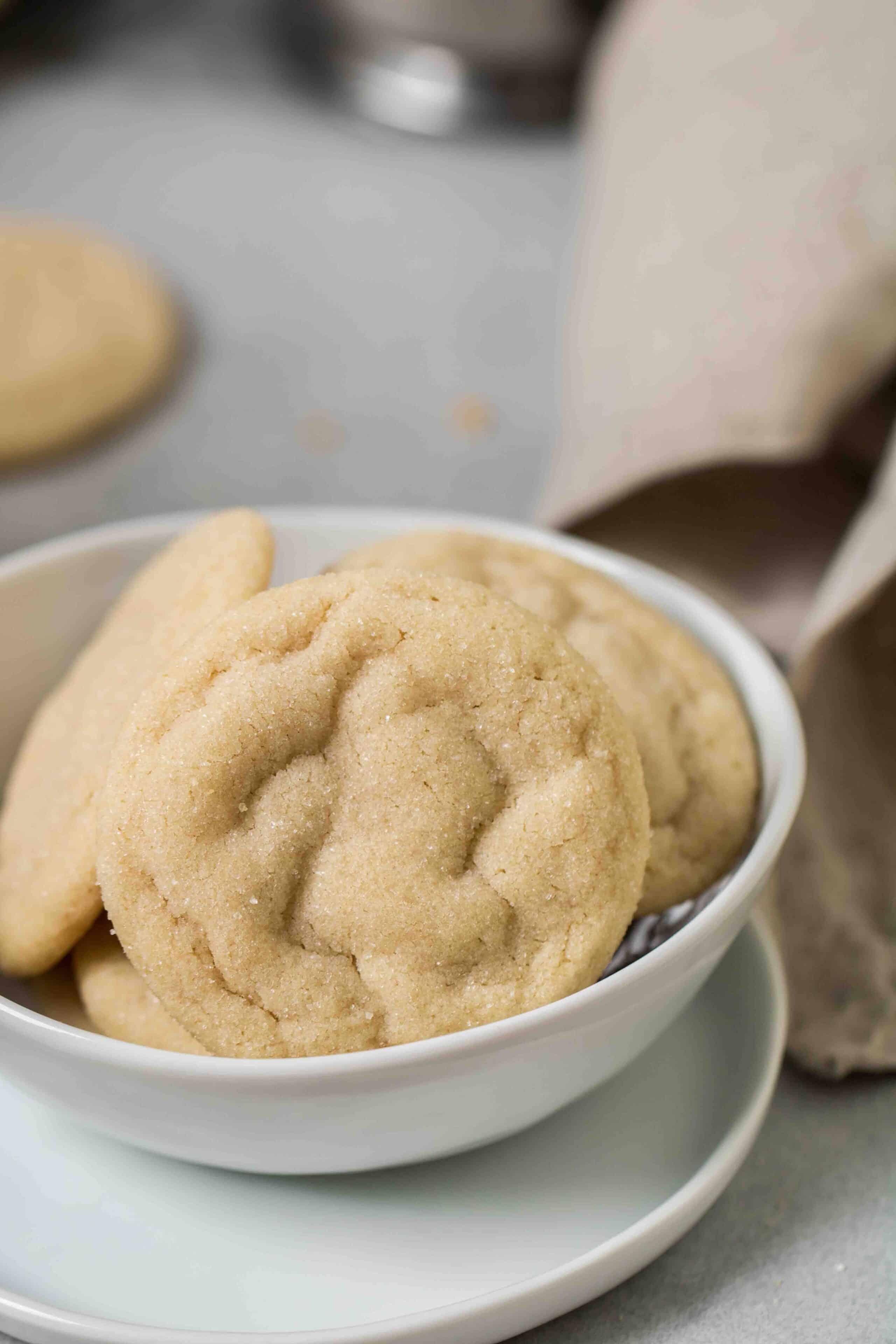 Close up texture of vanilla cookies