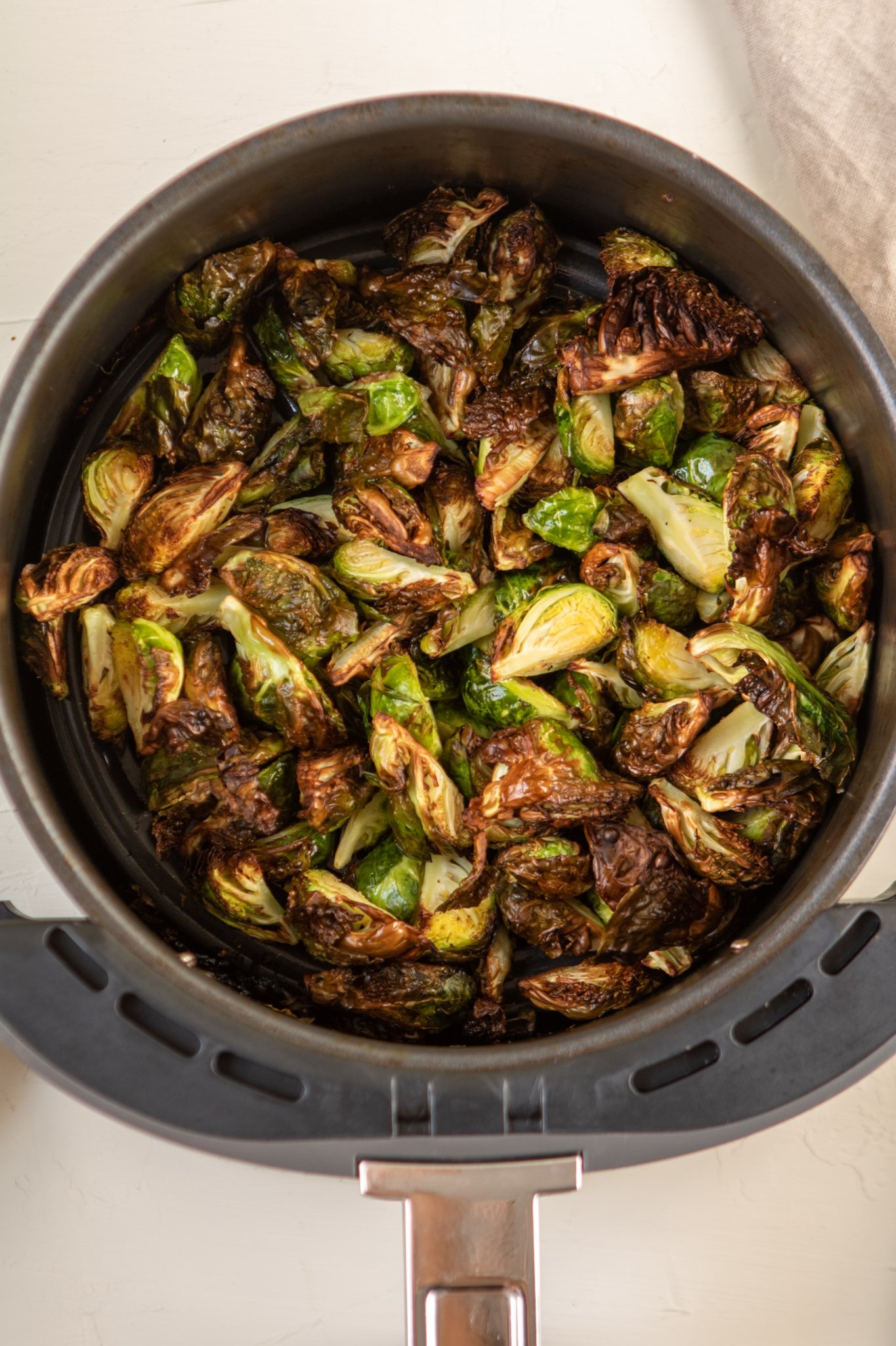 Brussel sprouts fried in the air fryer