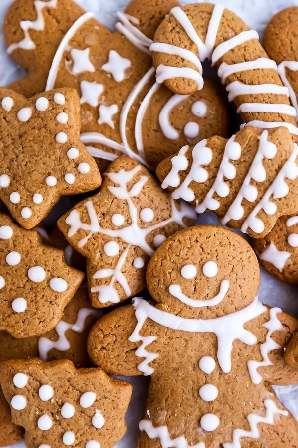 Soft ginger bread cookies for the holidays