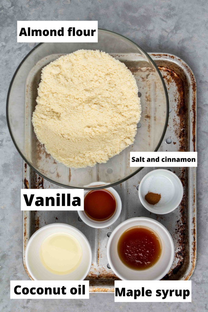 Ingredients for Healthy pecan pie bars