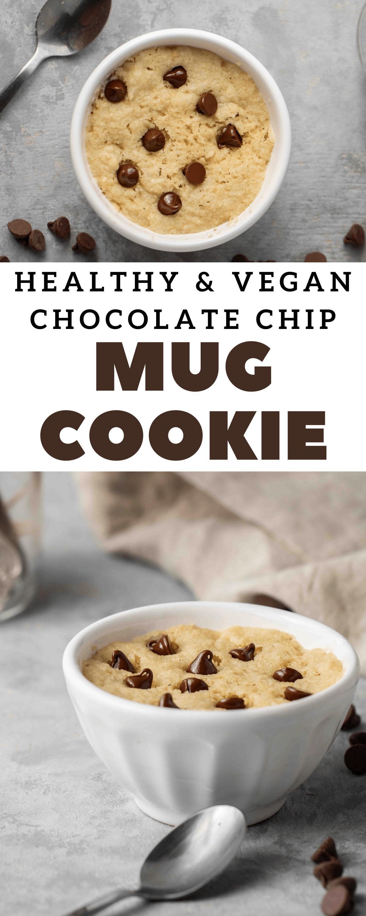 Healthy Chocolate Chip Vegan Mug Cookie Lifestyle Of A Foodie