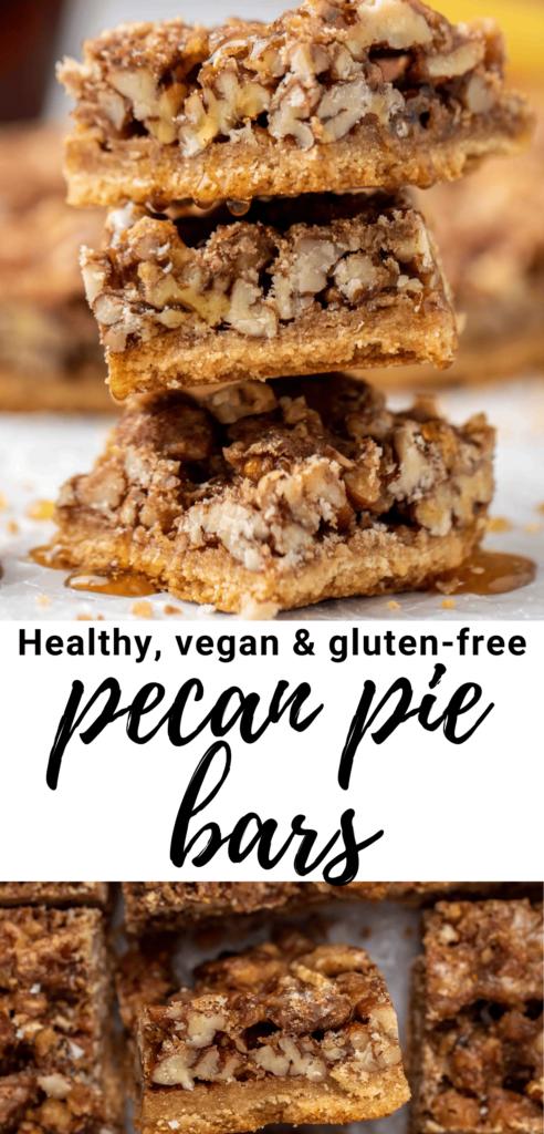 Pecan pie healthy bars