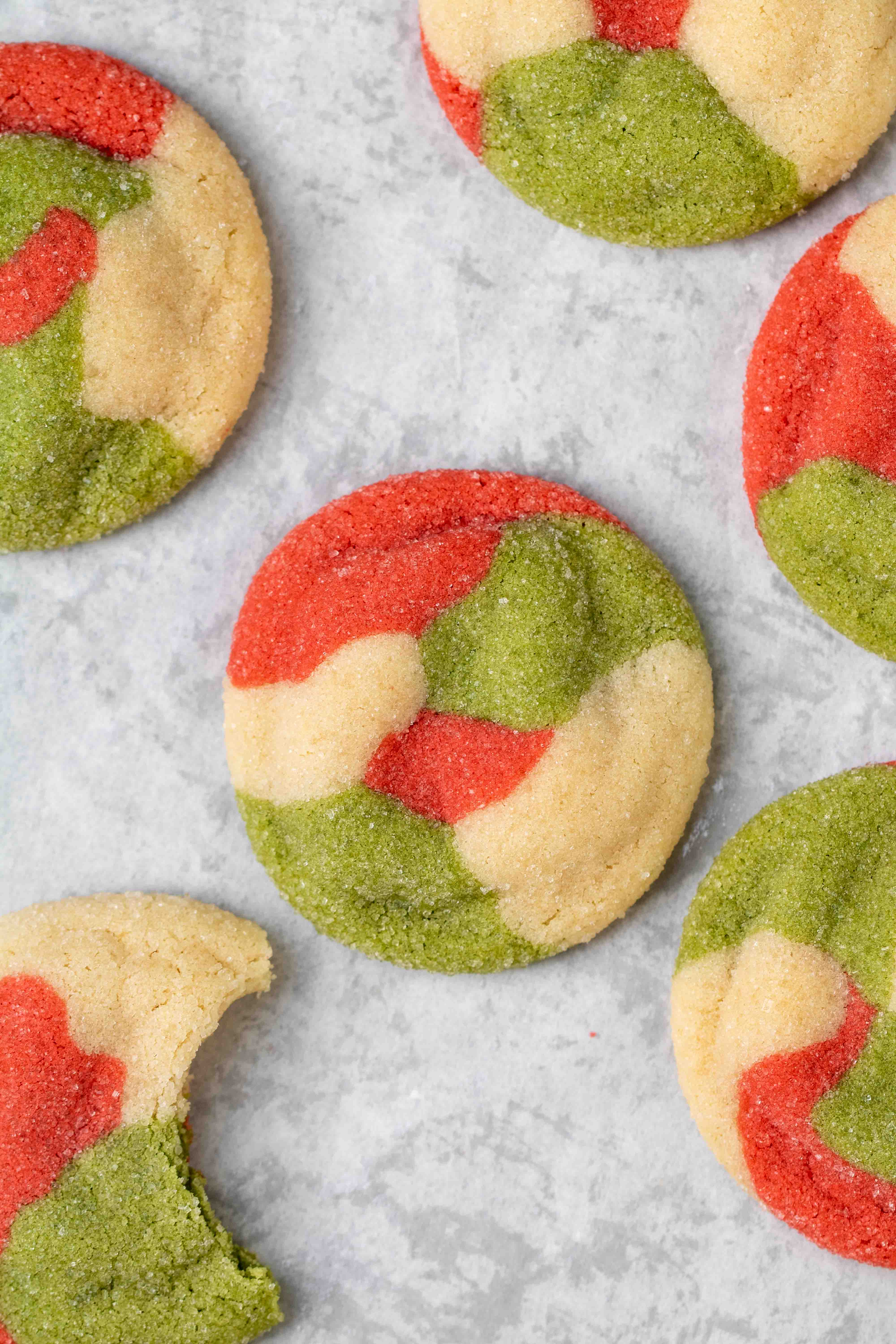Marbled Christmas sugar cookie recipe