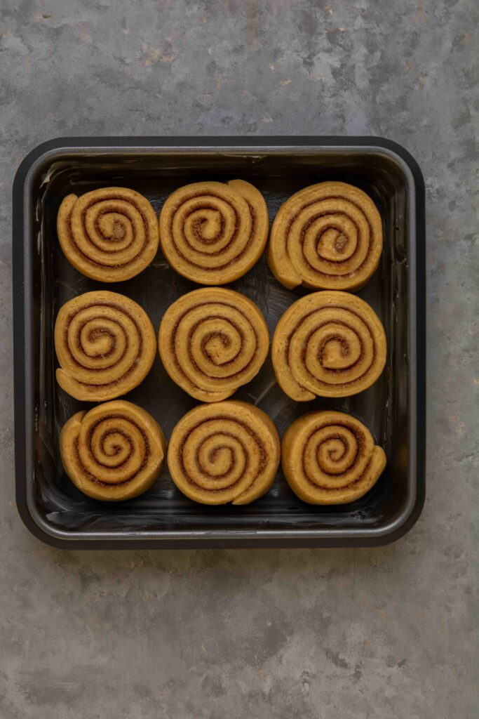 Let the cinnamon rolls proof