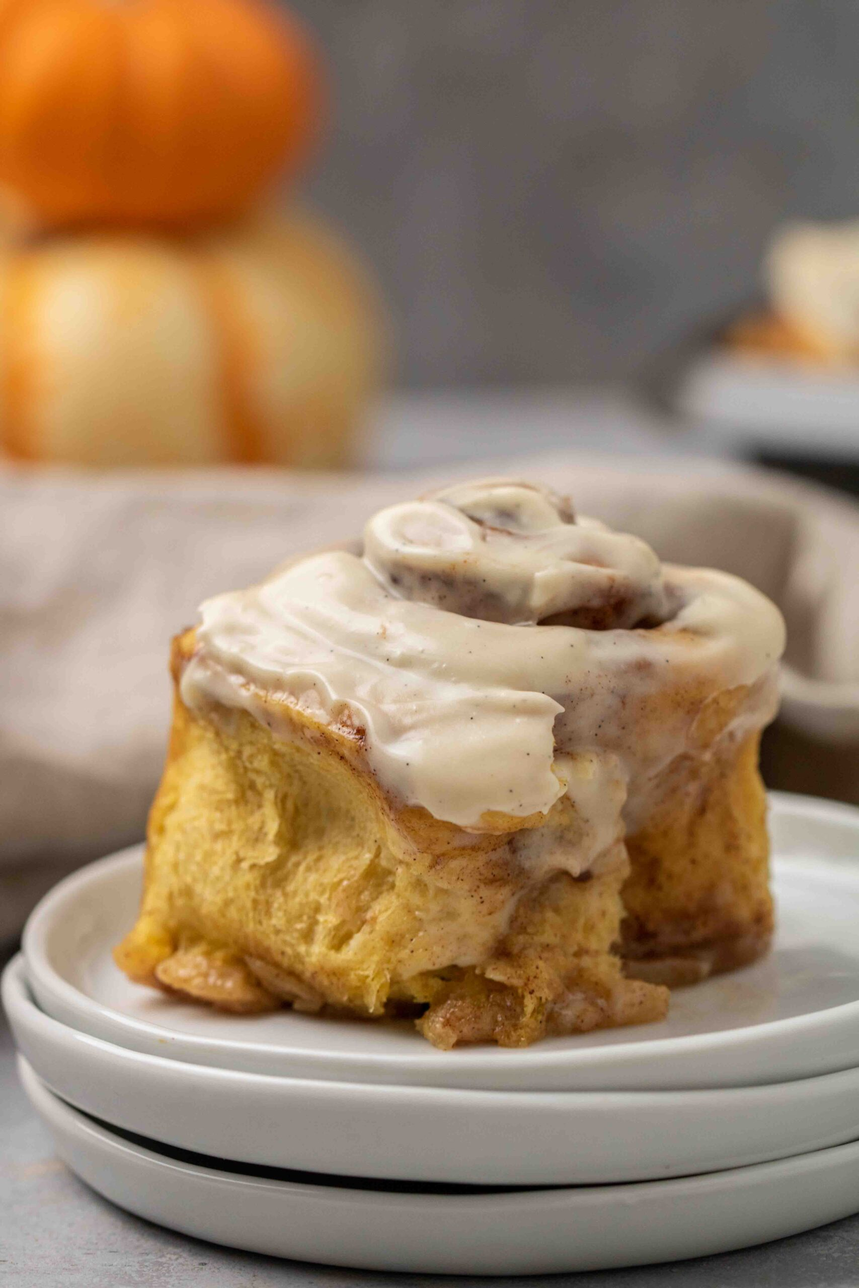 Soft and fluffy pumpkin cinnamon rolls