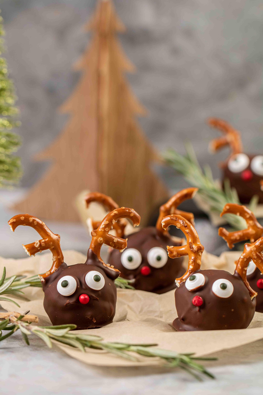 Straight shot of reindeer balls