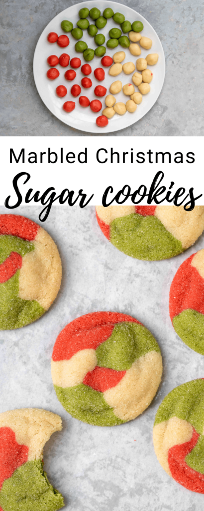 Marbled Christmas sugar cookies