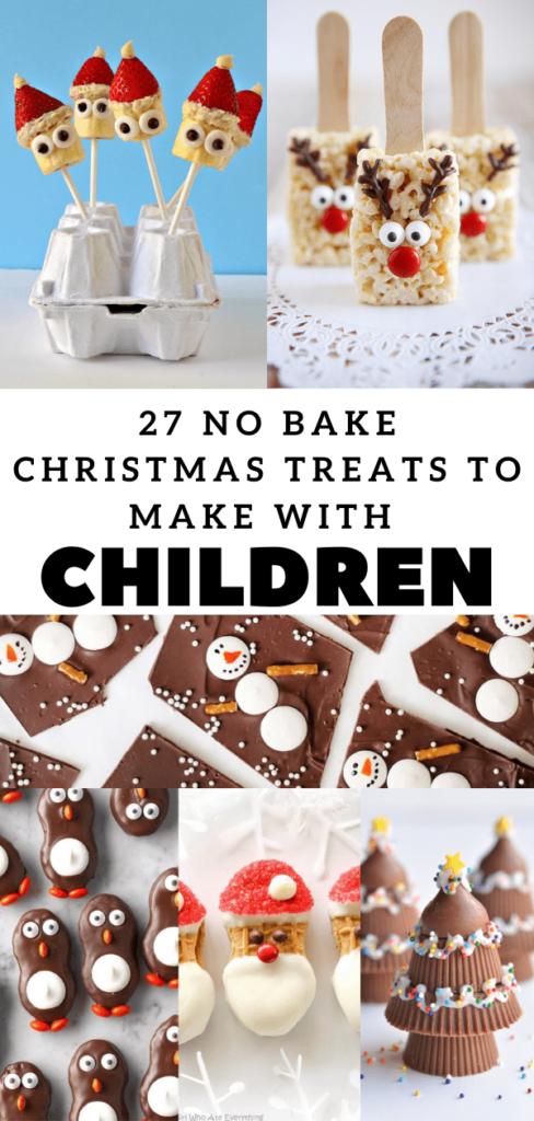 27 no bake Christmas treats to make with children