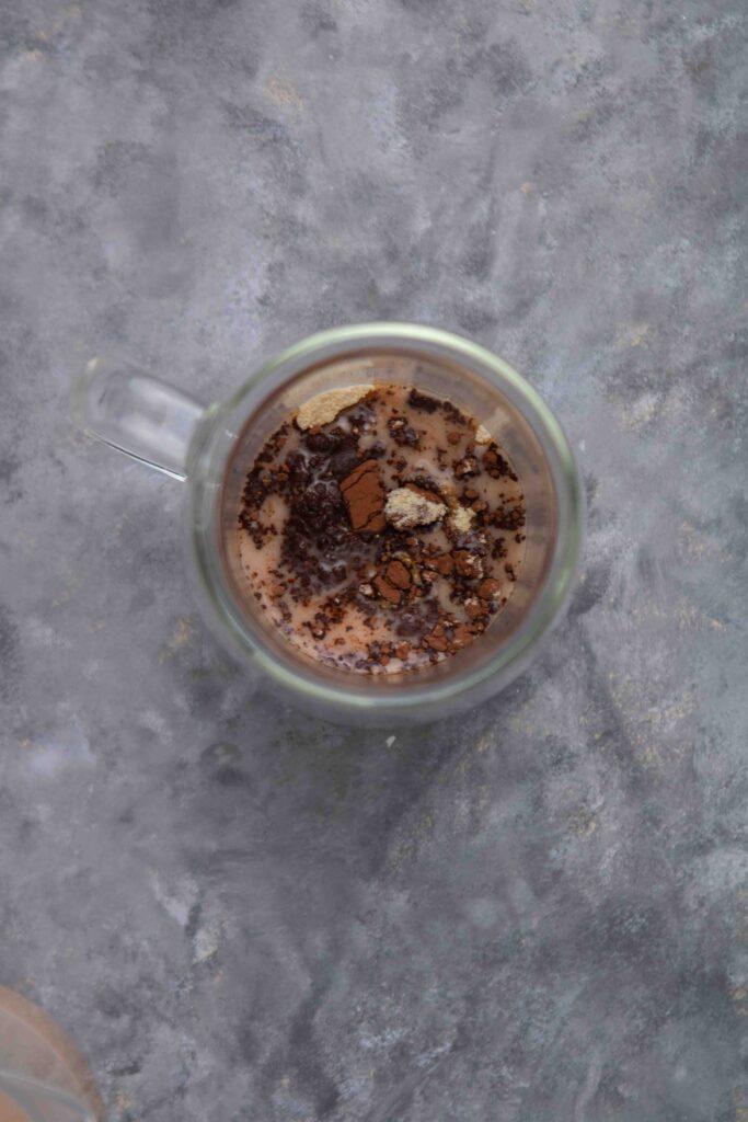 Step by step how to make hazelnut hot chocolate