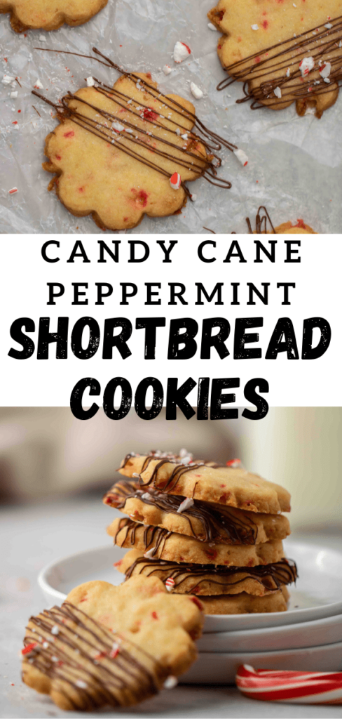 Candy cane peppermint shortbread cookies for pinterest