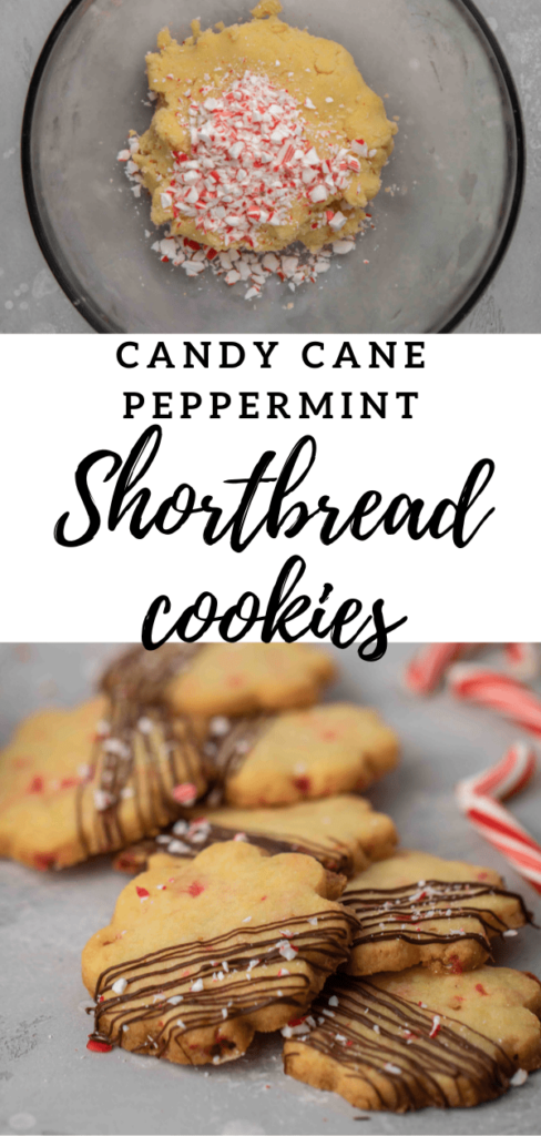 Candy cane peppermint shortbread cookies