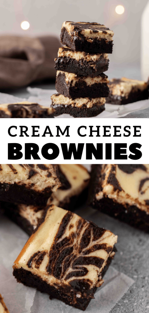 Cream cheese brownies for Pinterest