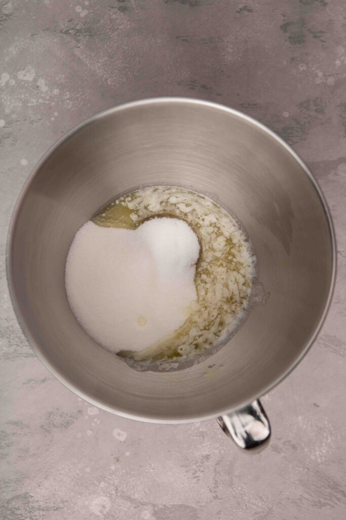 Creamed butter with sugar